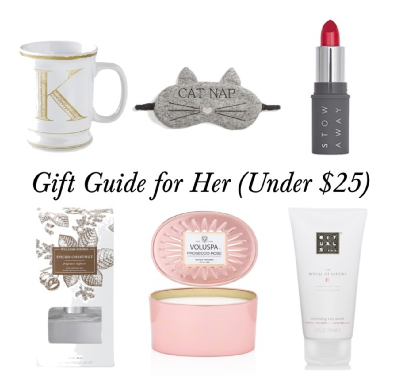 Holiday Gift Ideas for Her (under $25)