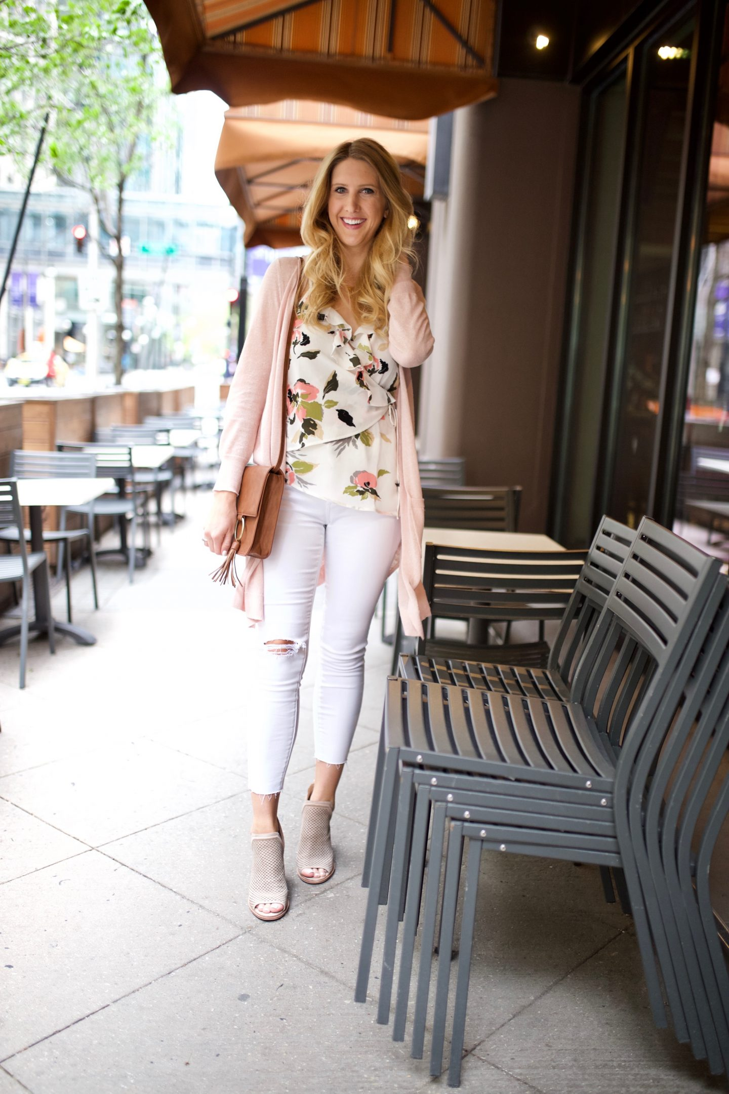 Floral Wrap Top at the Windsor