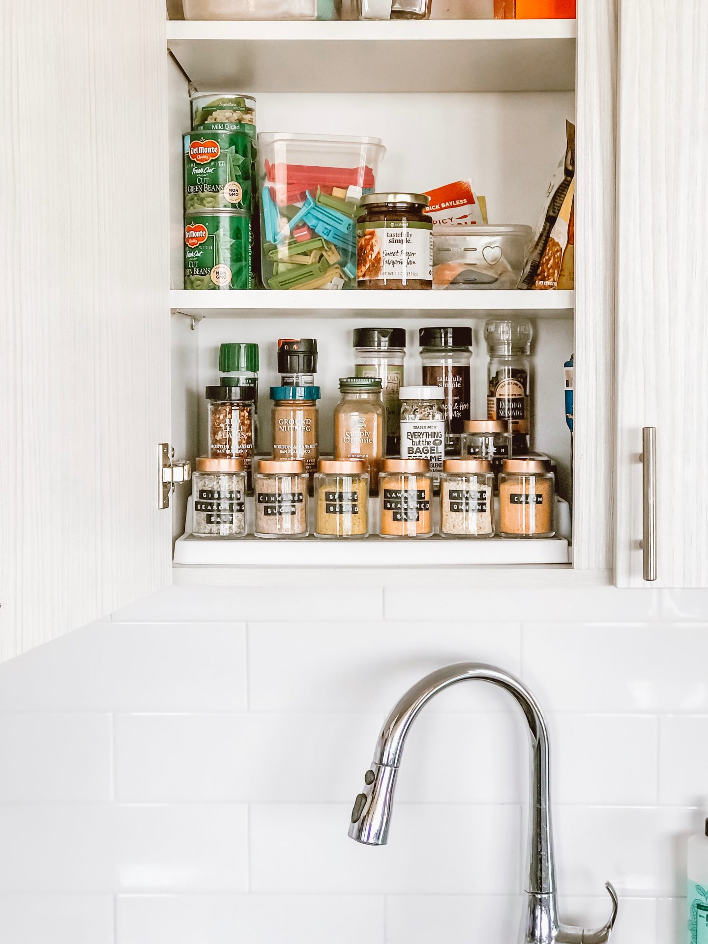 Easy Way to Organize your Spice Cabinet